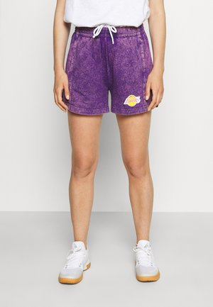NBA LOS ANGELES LAKERS WOMENS ACID WASH SHORT - Sports shorts - purple