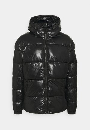 WITH POCKET AND BUCKLE ON SLEEVE - Winter jacket - black
