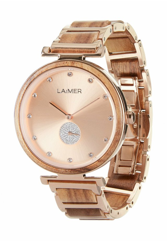 LAIMER QUARZ HOLZUHR - ANALOGE ARMBANDUHR MIA - Watch - rose