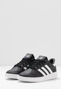 adidas Originals - TEAM COURT - Baskets basses - core black/footwear white/clear black - 3