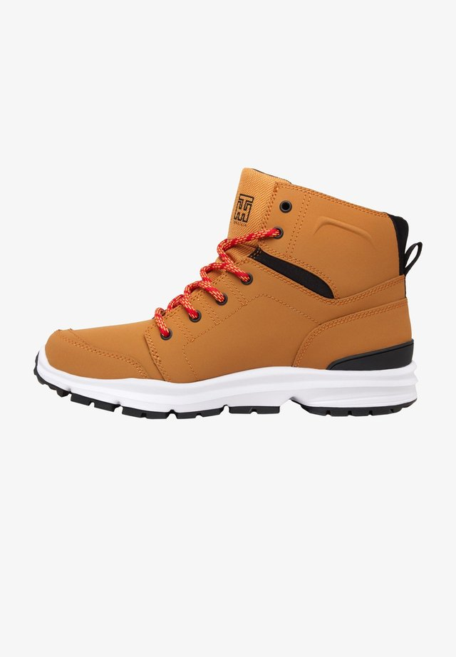 TORSTEIN - Lace-up ankle boots - wheat/black