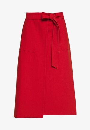 BELTED SKIRT - A-line skirt - brown