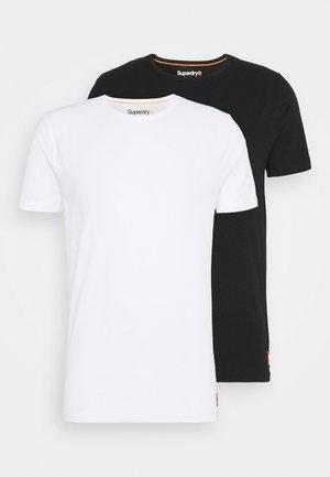 LAUNDRY SLIM TEE 2 PACK - Jednoduché triko - white/lblack