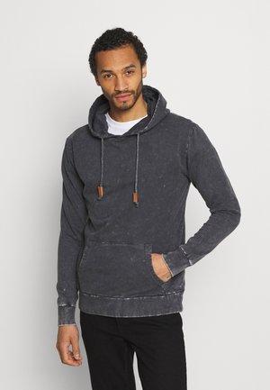 Sweatshirt - grey acid wash