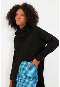 Trendyol - PARENT - Gebreide jurk - black - 3