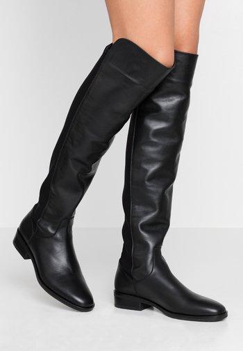 PURE CADDY - Overknee laarzen - black