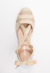 San Marina - LADAGIA - Sandály na vysokém podpatku - sable - 3