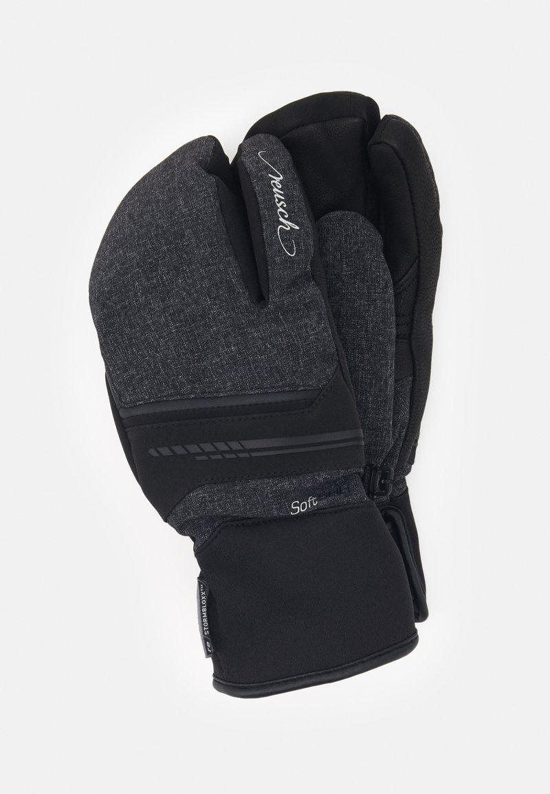 Reusch - TOMKE STORMBLOXX™ LOBSTER - Mittens - black/black melange