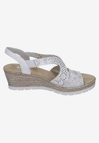 Rieker - Wedge sandals - white - 4