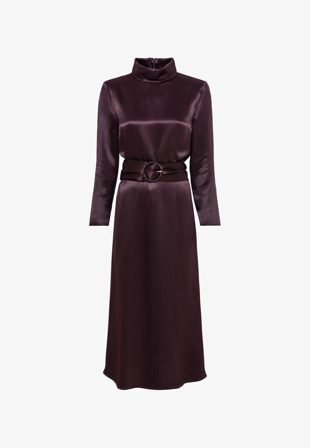 AUS SATIN - Cocktail dress / Party dress - aubergine