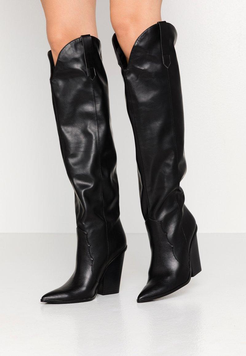 Steve Madden - RANGER - High heeled boots - black
