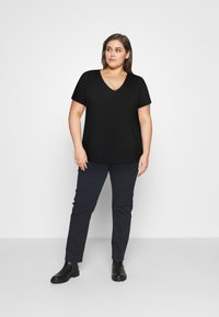 Anna Field Curvy - Camiseta básica - black - 1