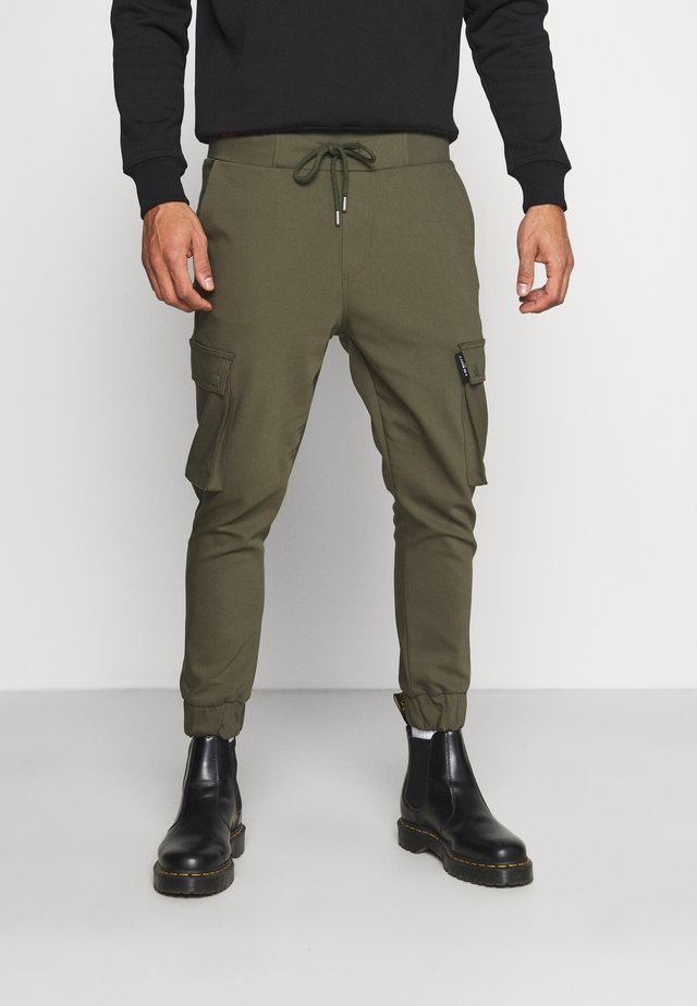 LORENZ - Pantalon cargo - khaki