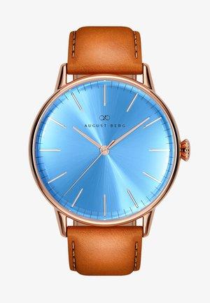 UHR SERENITY SKY BLUE LEATHER 40MM - Horloge - sky blue