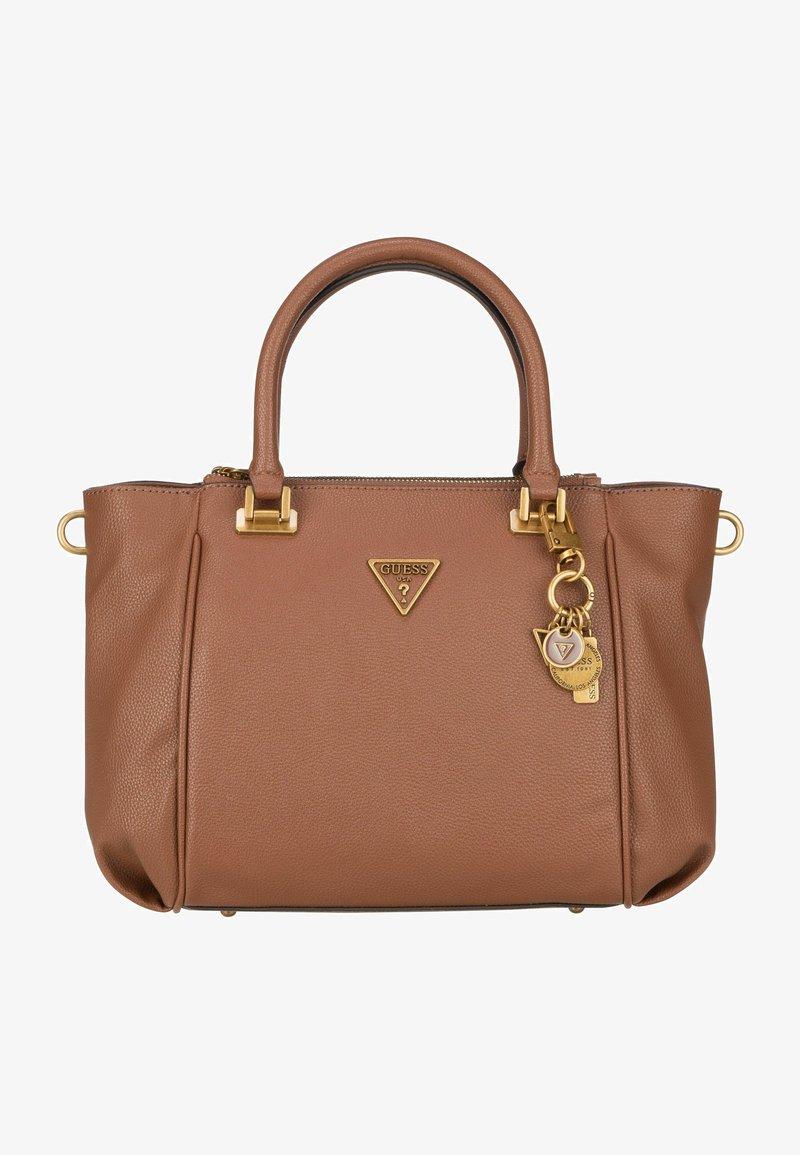 Guess - DESTINY STATUS SATCHEL - Handbag - cognac
