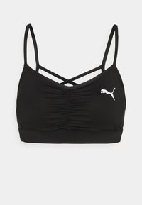 PAMELA REIF X PUMA CALLECTION RUCHING SPORT BRA - Light support sports bra - black