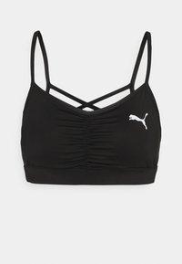 RUCHING SPORT BRA - Sports bra - black