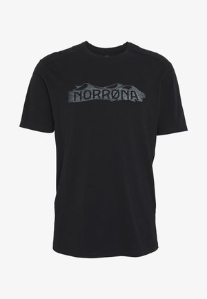 RANGE  - Print T-shirt - caviar