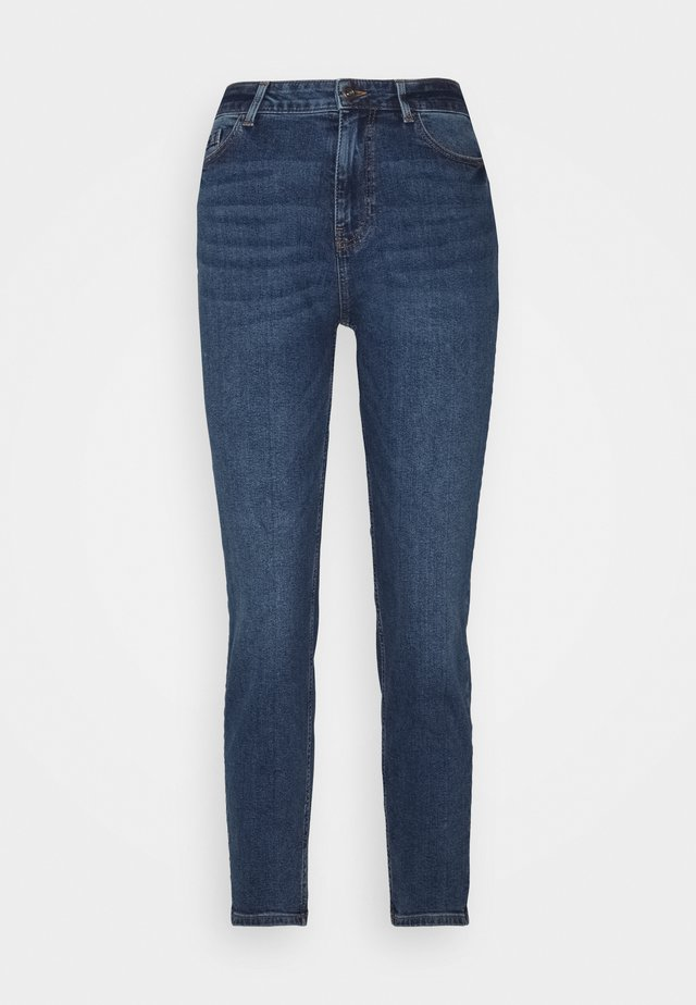 PCKESIA MOM ANK - Straight leg jeans - dark blue denim