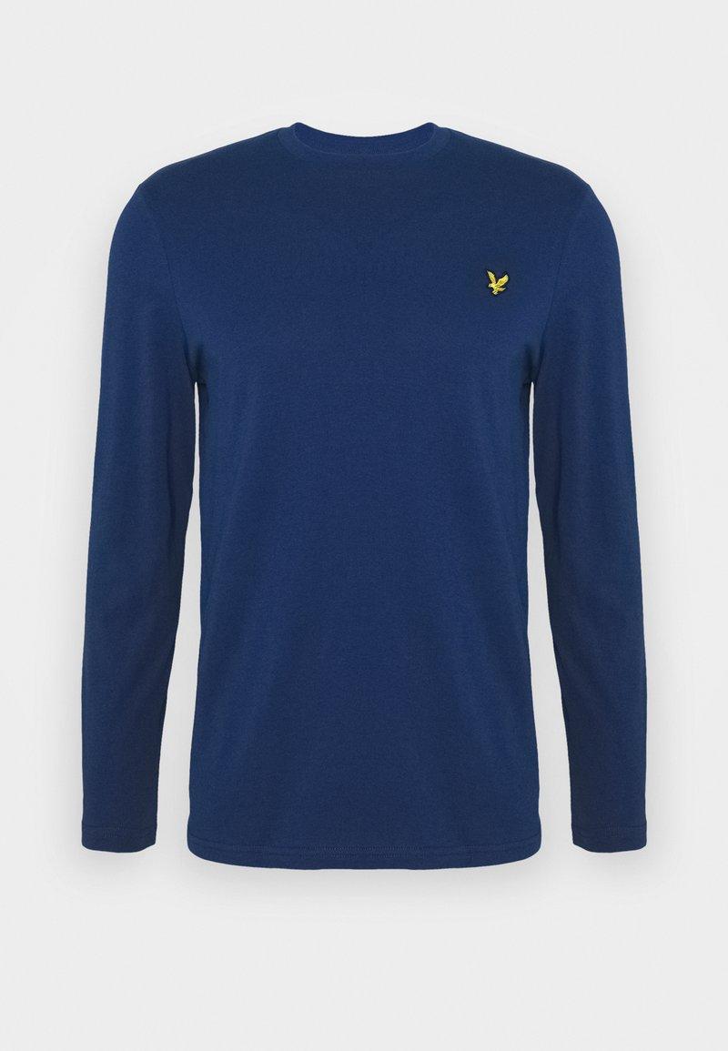 Lyle & Scott CREW NECK PLAIN - Langarmshirt - indigo/blau 6ILxBp