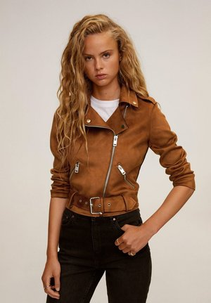 SEUL-I - Faux leather jacket - brown