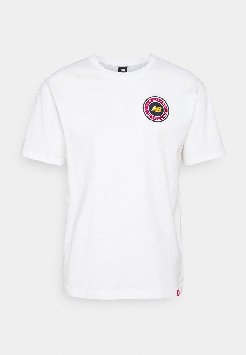 New Balance - ESSENTIALS ATHLETIC CLUB LOGO TEE - Print T-shirt - white