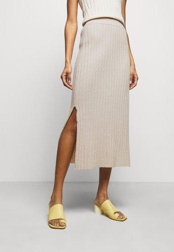 PIPER - Pencil skirt - oat