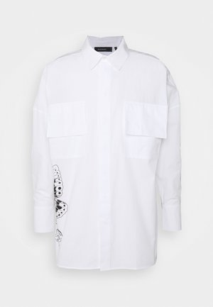 Byron Denton x NU-IN MELTED BUTTERFLY OVERSIZED - Camicia - white