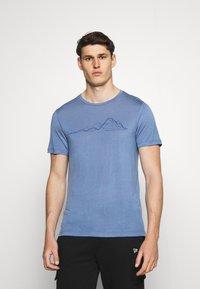 Houdini - TREE MESSAGE TEE - T-shirt print - blue - 0