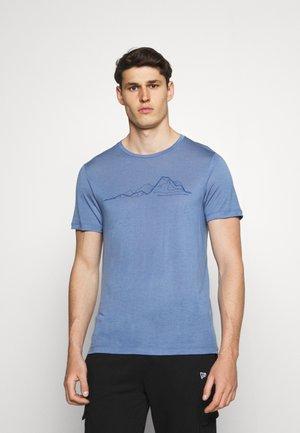 TREE MESSAGE TEE - T-shirt imprimé - blue