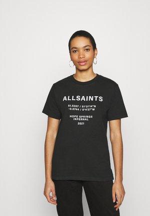 ORDINATES TEE - Print T-shirt - black
