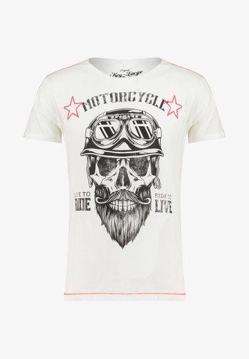 MT BEARDED BIKER - Print T-shirt - white