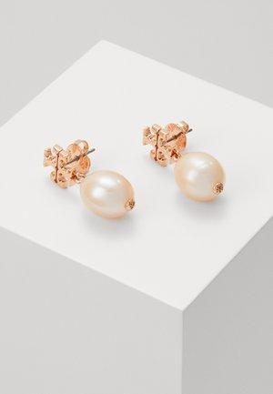 KIRA DROP EARRING - Earrings - rose gold-coloured/champange