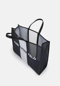 KARL LAGERFELD - PRINTED LARGE TOTE - Cabas - black/white - 2