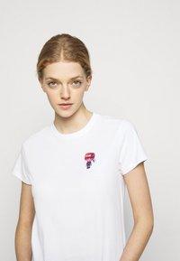 KARL LAGERFELD - MINI 3D IKONIK  - T-Shirt print - white - 3