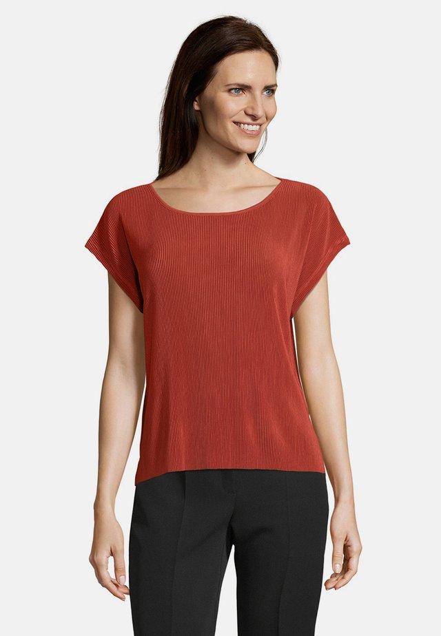 Print T-shirt - dunkelrot