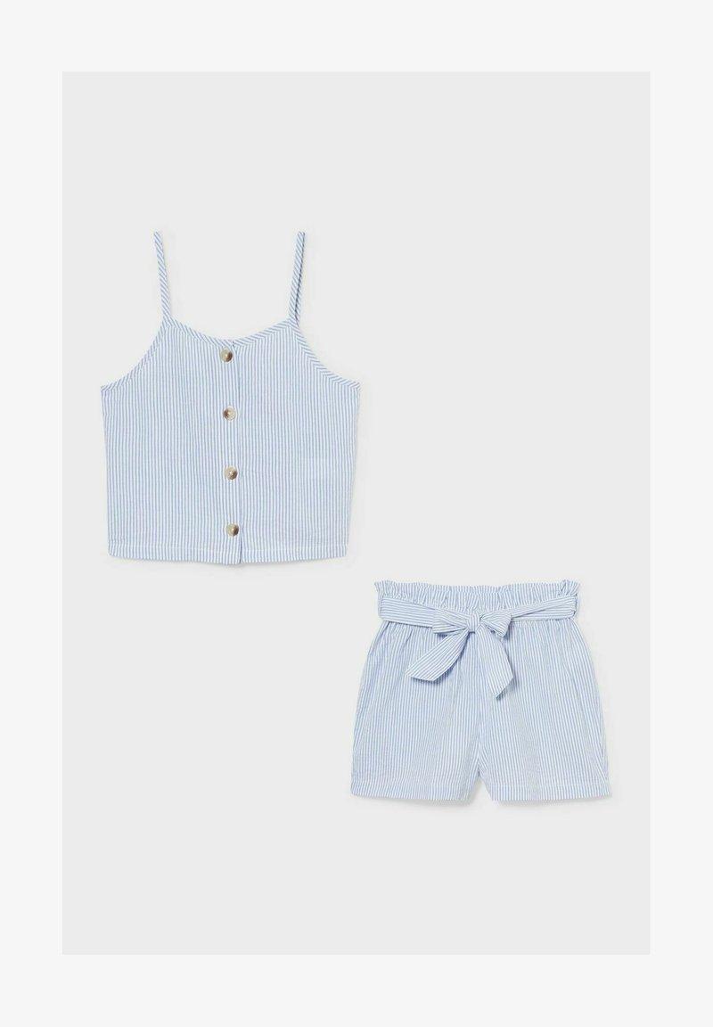 C&A - SET - Shorts - blue / white