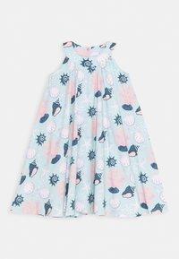 Walkiddy - DRESS FLARED SHELL PEARLS - Day dress - light blue/pink - 0