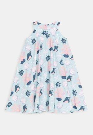 DRESS FLARED SHELL PEARLS - Vestido informal - light blue/pink