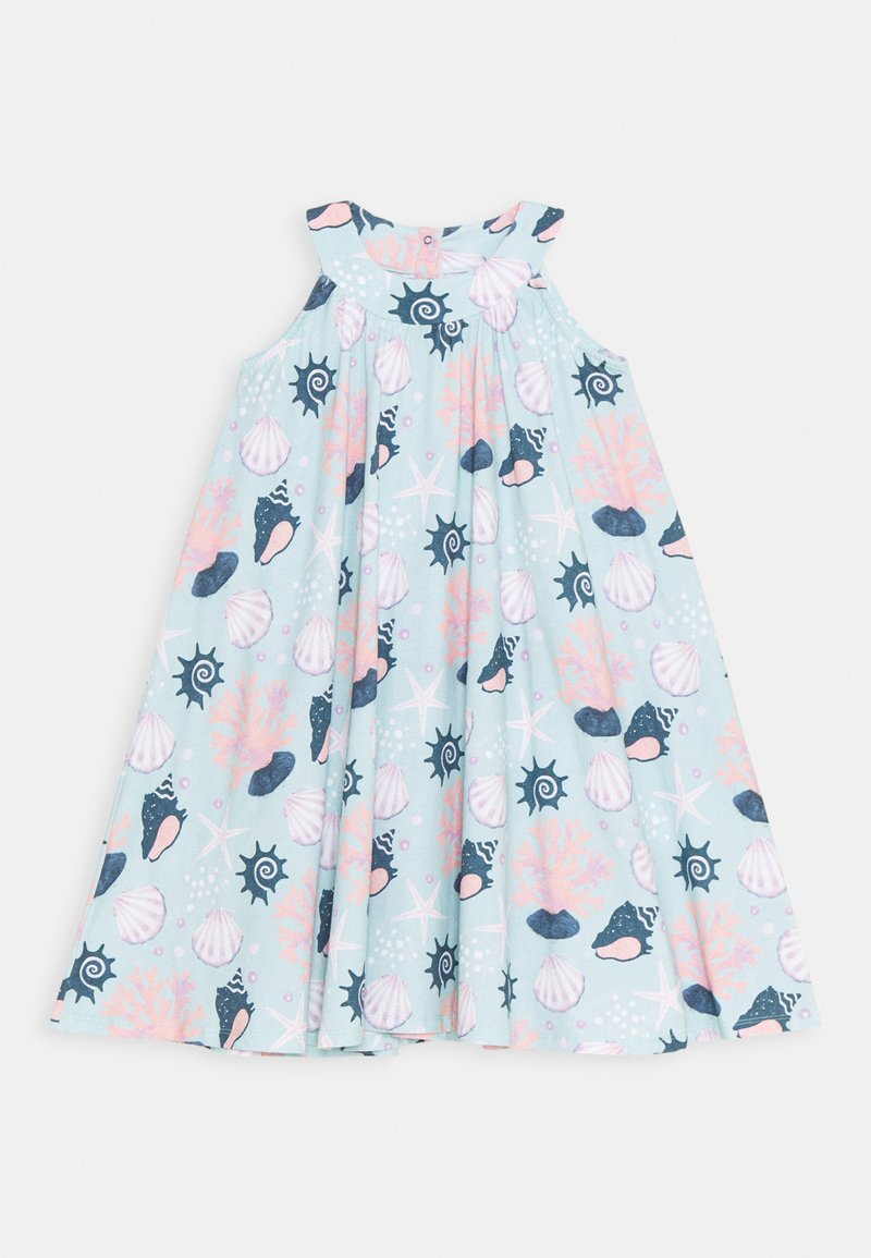 Walkiddy - DRESS FLARED SHELL PEARLS - Day dress - light blue/pink