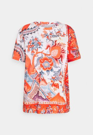 SELMARIS - T-shirt con stampa - carmin