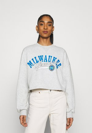 MAYA CROPPED - Sweatshirt - grey melange