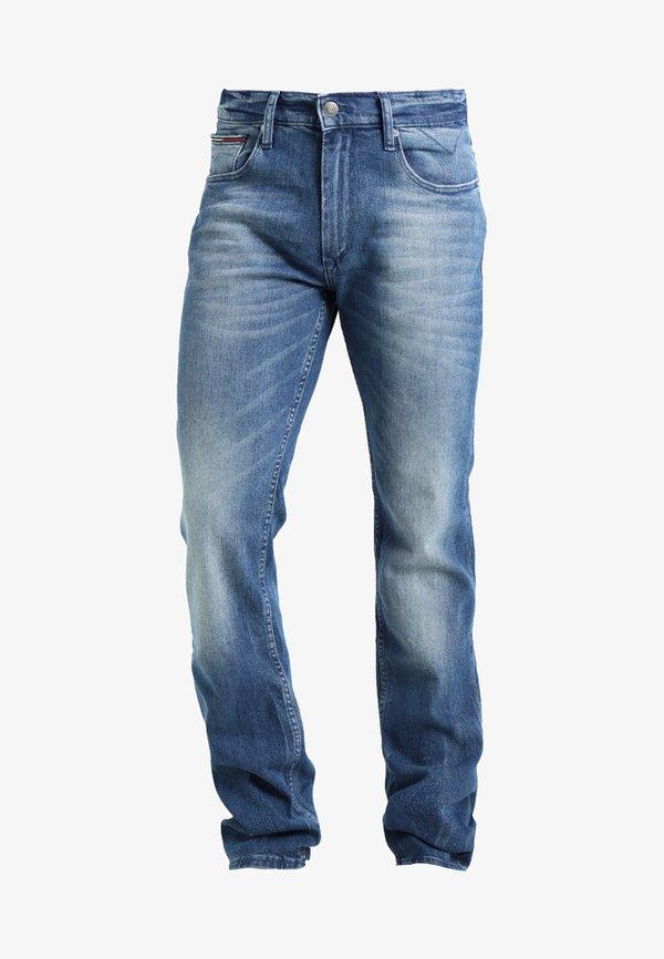 Tommy Jeans ORIGINAL RYAN BEMB - Jeansy Straight Leg - berry mid blue comfort/niebieski denim Odzież Męska ITGO