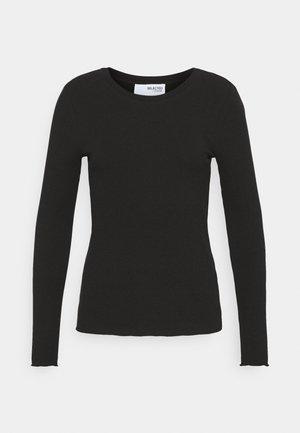SLFANNA CREW NECK TEE  - Long sleeved top - black