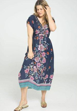 MIT INDISCH INSPIRIERTEM - Day dress - marine