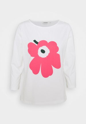 ILMA UNIKKO PLACEMENT - Long sleeved top - offwhite/pink/green