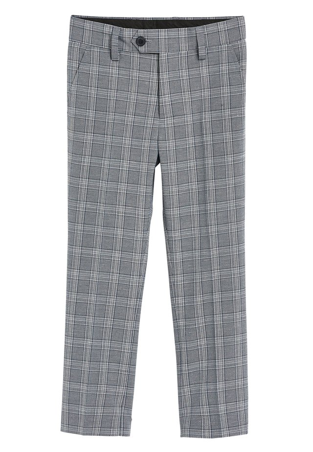 GREY/BLUE CHECK SUIT TROUSERS (12MTHS-16YRS) - Suit trousers - grey