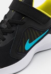 Nike Performance - DOWNSHIFTER 10 UNISEX - Neutral running shoes - black/chlorine blue/high voltage/dark smoke grey - 5