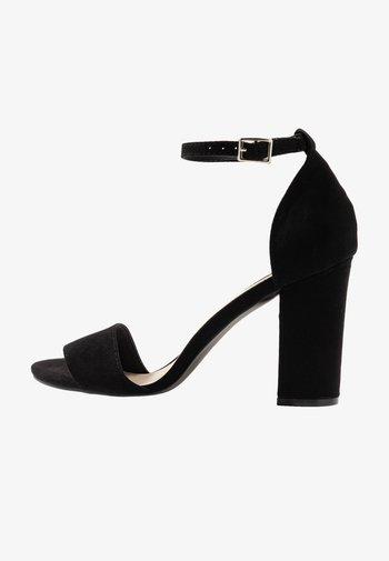 BLOCK  - Sandały na obcasie - black