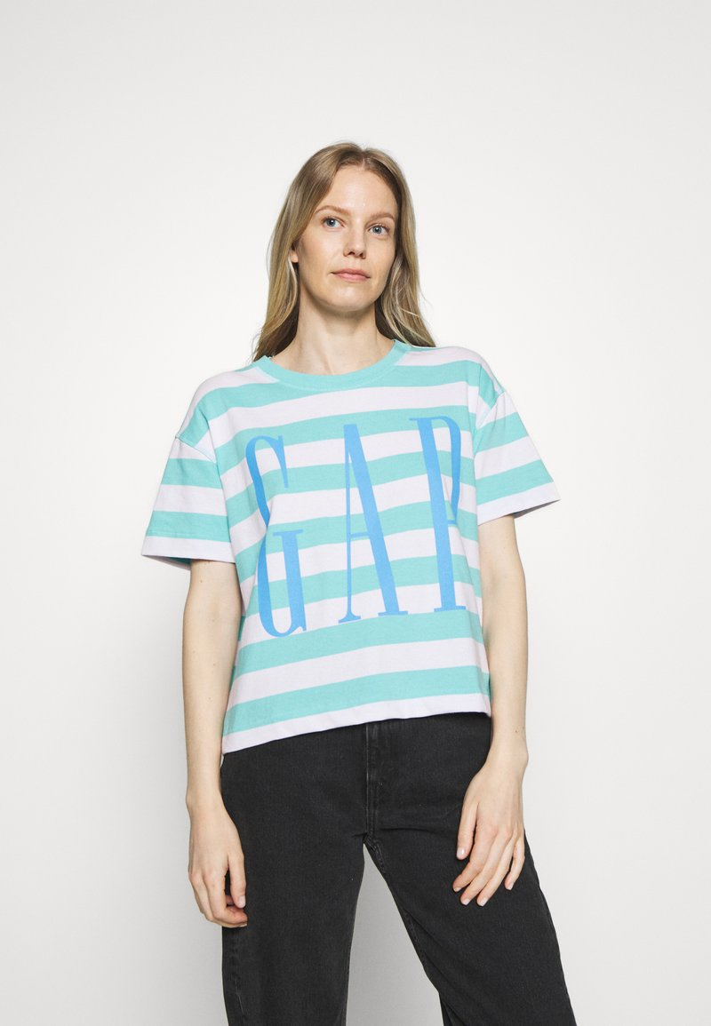 GAP - BOXY TEE - Print T-shirt - blue